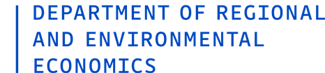Department of Regional and Environmental Economics